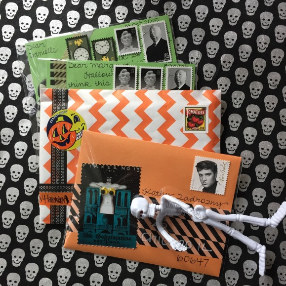 Halloween mail using cellophane envelopes