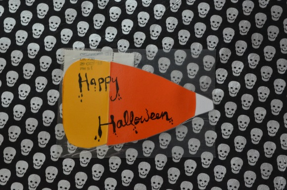 candy corn postcard