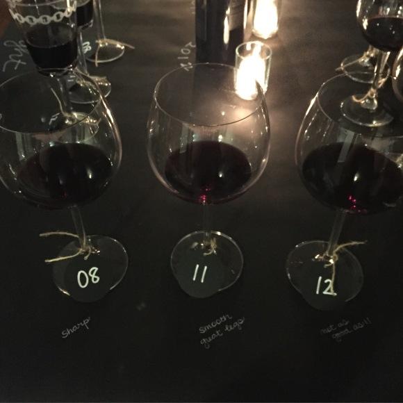 Phantom Flight Night Table, Bogle Wine, Phatom Wine, wine tasting table setting