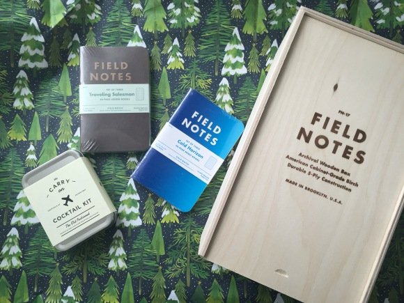 Field Notes box, Field Notes Traveling Salesman, Field Notes Cold Horizon, CArry On Cocktail Kit
