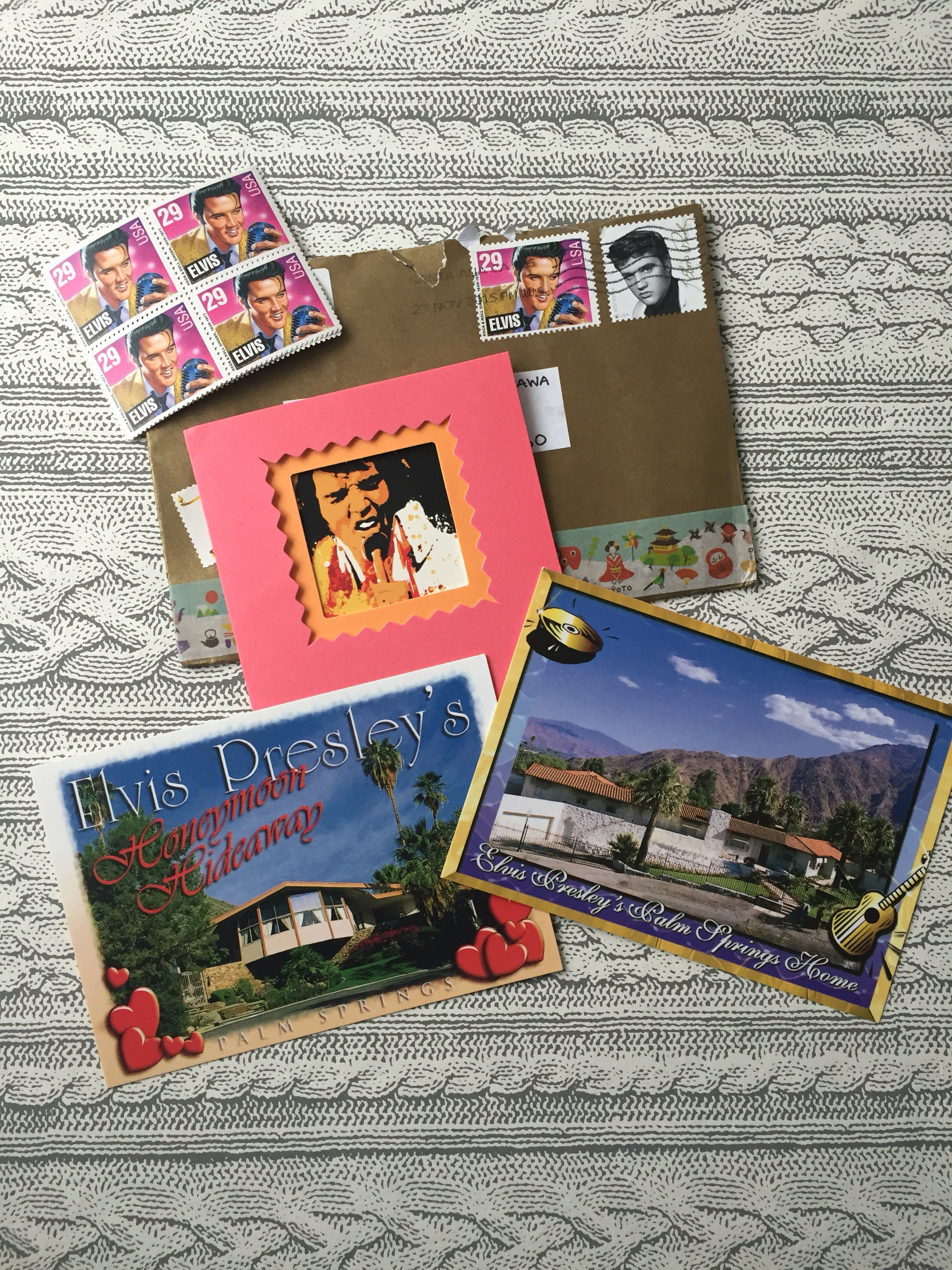 Elvis Mail From Nic Postage Stamp Postcards