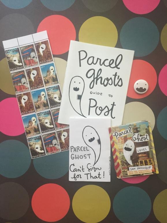 Parcel Ghost, zines, cinderella stamps