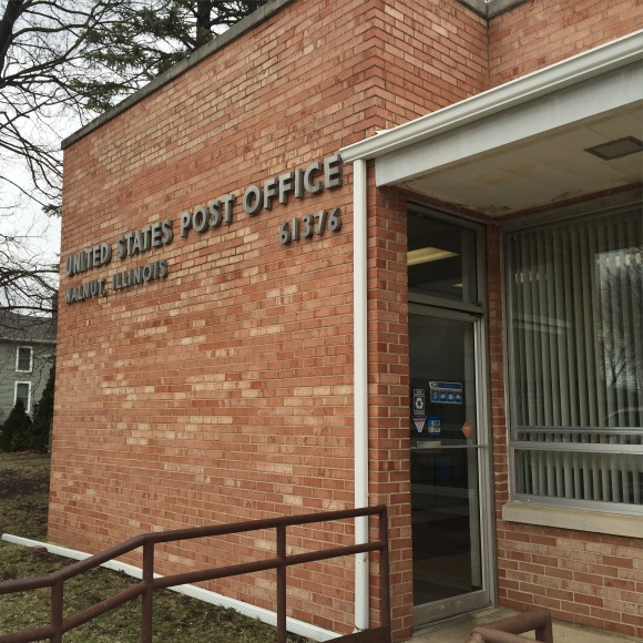 Walnut, IL post office, USPS, 61376