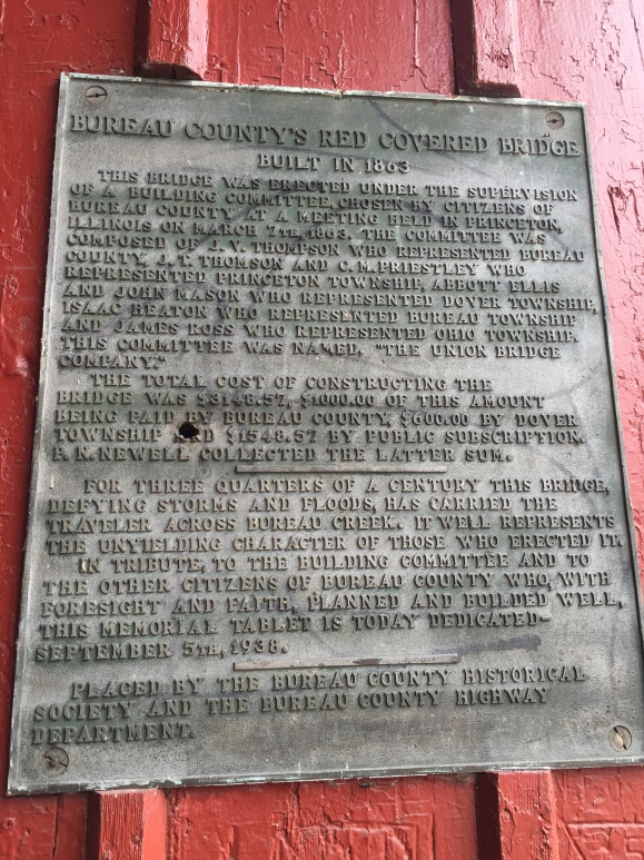 Princeton Covered Bridge, information plaque