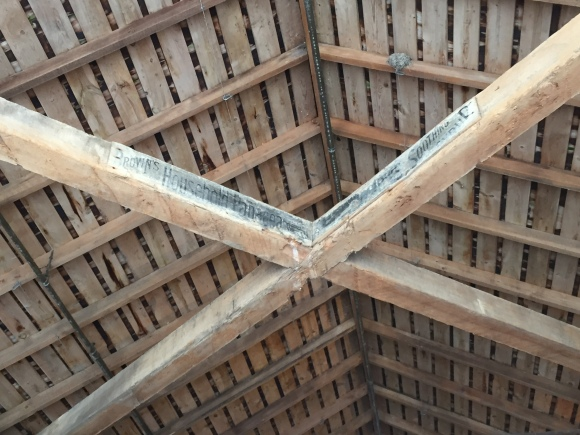 Princeton Covered Bridge, detail of ceiling