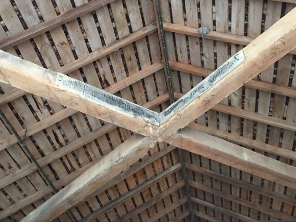Princeton Covered Bridge, detail of ceiling