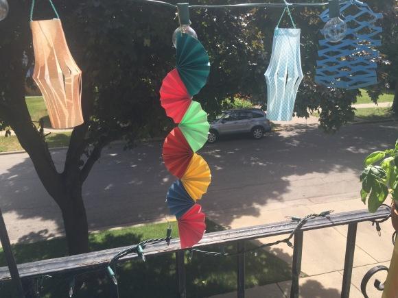 Hasegawa Tanabata 2016, decorations, origami fan