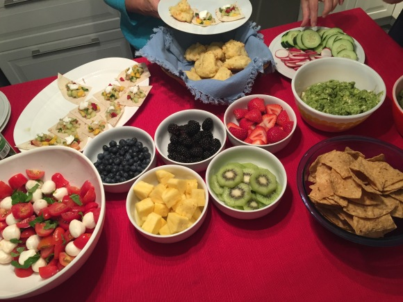 Olympics party food spread, Rio 2016
