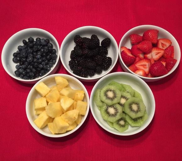 Olympic rings fruit platter