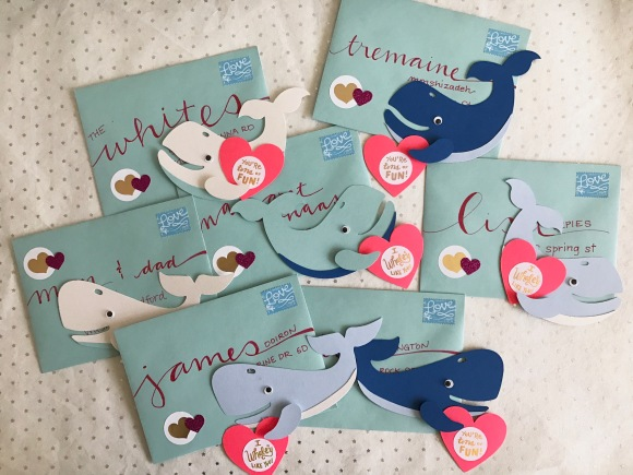 Whale Valentines, Paper Source, Valentine kit