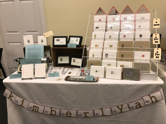 HoneyCraft Market, Woodstock IL, KimberlyAH, GalaxieSafari, handmade Valentines, Displays2Go card display