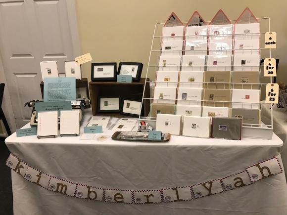 HoneyCraft Market, Woodstock IL, KimberlyAH, GalaxieSafari, handmade Valentines, Displays2Go card display