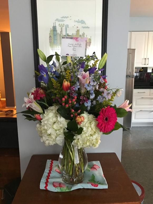 flowers, Valentine, bouquet, hydrangea, lillies