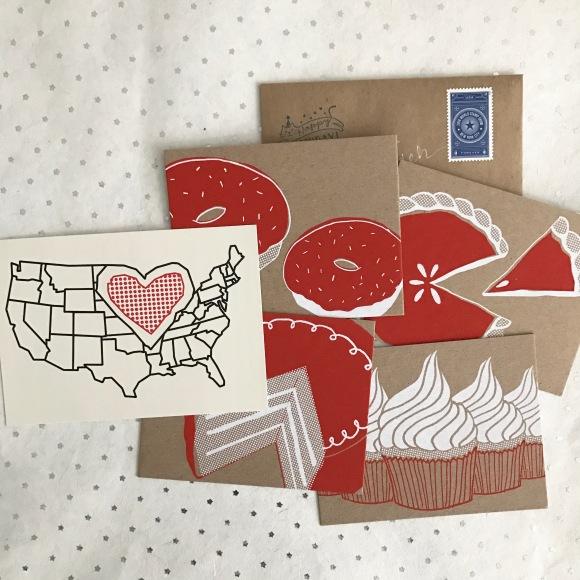 dessert postcards, letter month