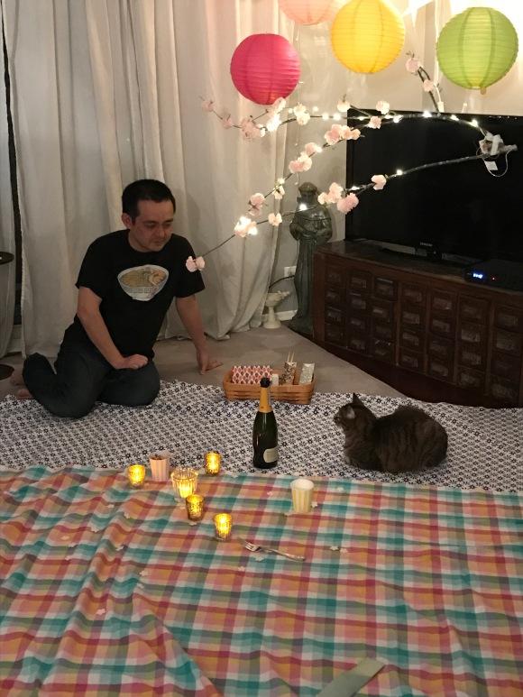 Kimberly's hanami picnic, Naoto and Presley, sakura, cherry blossom