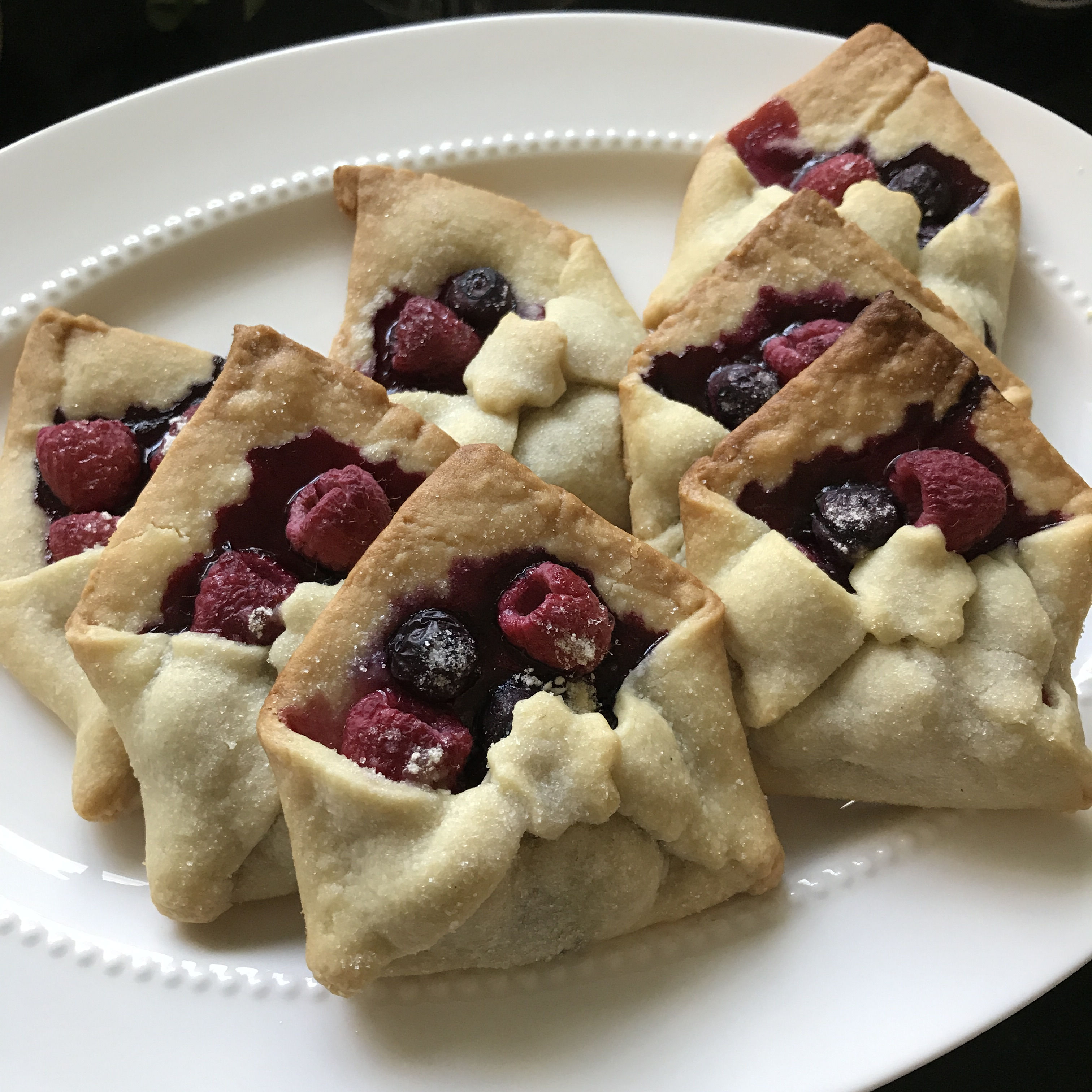 Write On Party, envelope pies, letter writing treats