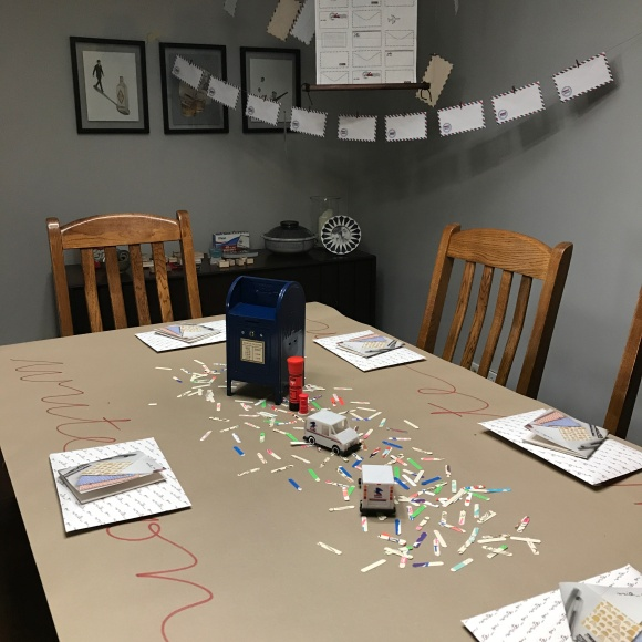 Write On party set-up 1, National letter writing month