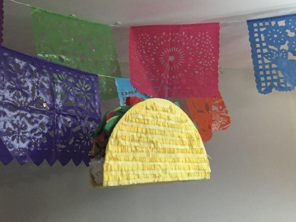 taco piñata Cinco de Karen, Cinco de Mayo, Fiesta, retirement party, piñata, cactus