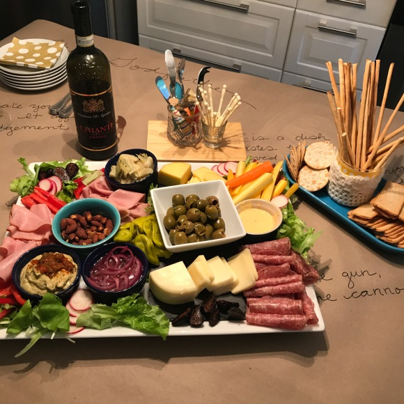 antipasto platter, antipasto, italian meats, italian cheese, the godfather party