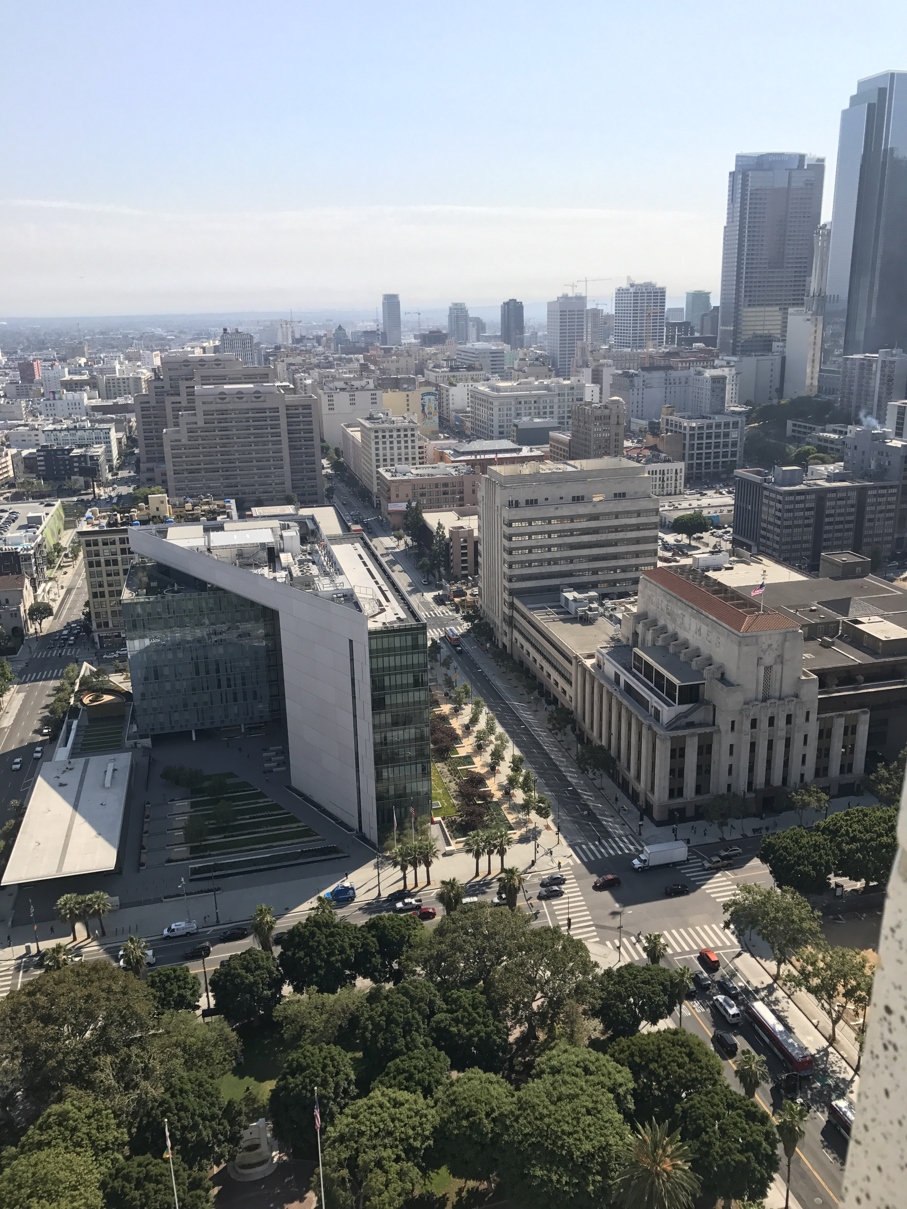 Los Angeles City Hall view
