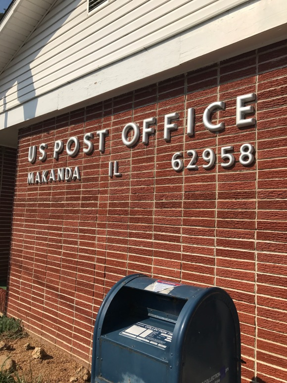 post office, Makanda, IL, path of totality, solar eclipse 2017