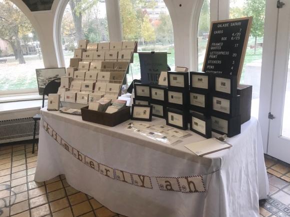 Galaxy Safari Petite Boutique set up 1, craft show set up, craft show table