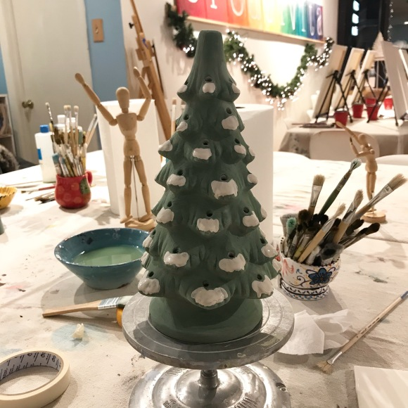 ceramic christmas tree, after
