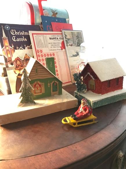 vintage Putz houses. Putz houses, vintage paper houses, christmas village