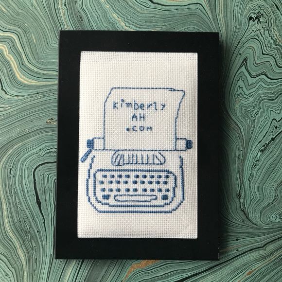 KimberlyAH logo embroidery by Karen