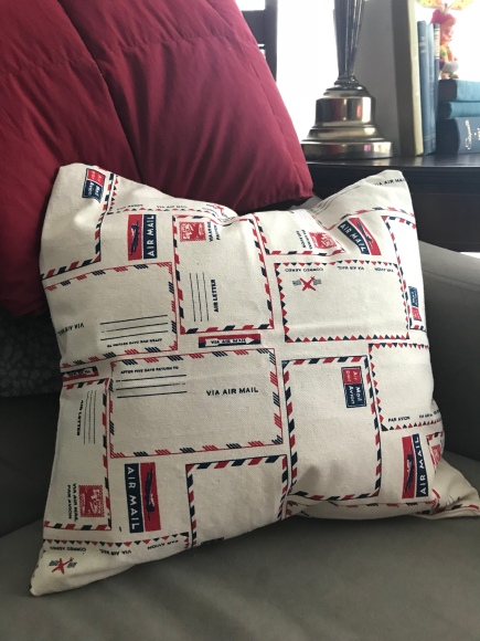 airmail pillow cover