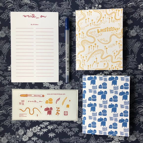write on, write on challenge, hello lucky, eggpress, national letter writing month