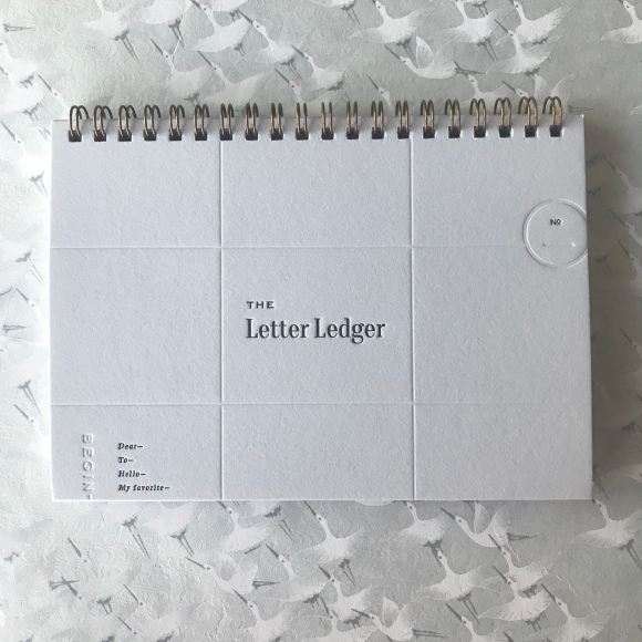 letter ledger, paper & type, letter writing, letter documentation, keep track of letters