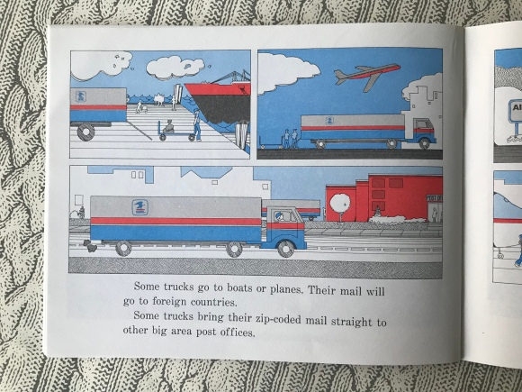 The Post Office Book: Mail and How It Moves by Gail Gibbons, vintage children's books, books about the post office