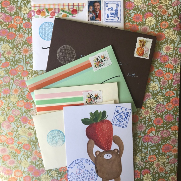 write on, national card and letter writing month, show and mail, stack of mail, Migration Goods