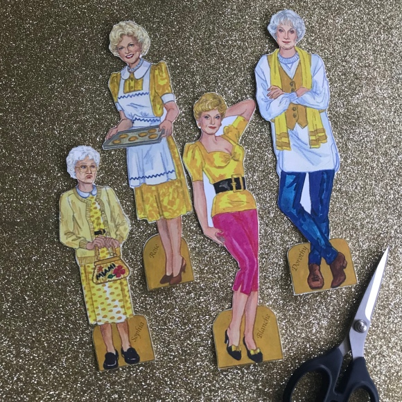 golden girls paper dolls, golden girls, paper dolls, golden girls gala decorations
