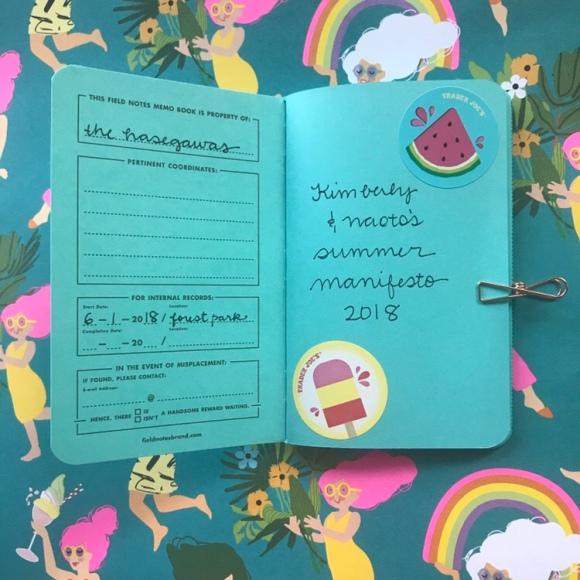 Field Notes Sweet Tooth, Field Notes Colors edition, summer passport, summer manifesto, summer bucket list, passport to summer