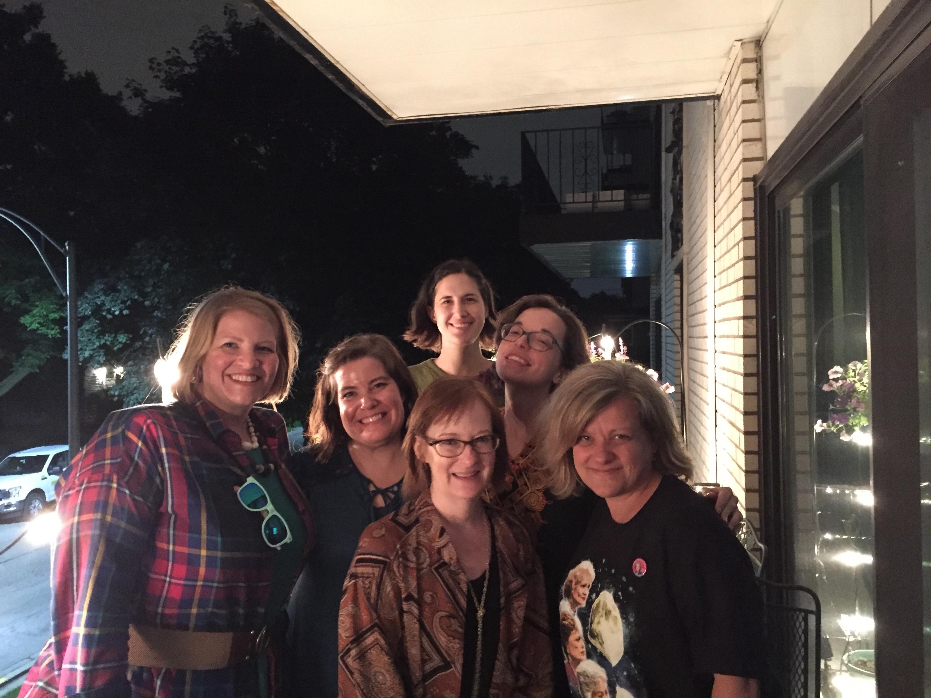 golden girls gala, friends on the lanai, golden girls party, kaftans, peignoirs