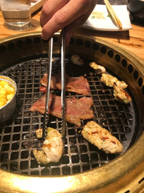 Gyu-kaku Japanese BBQ, west loop restaurants, grilling meats