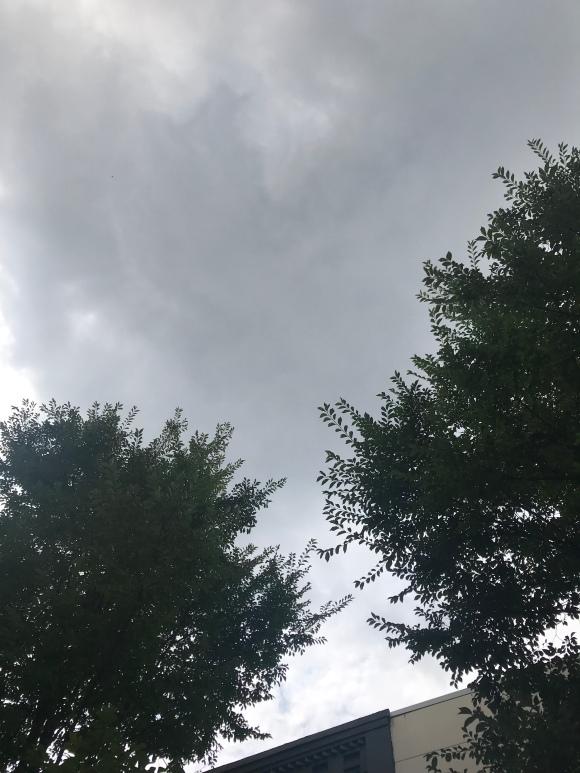 the skies above oak park during art dans la rue
