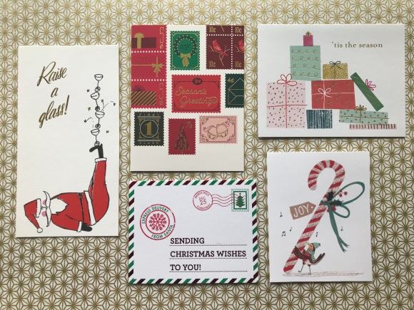 Christmas cards 2018, Kate Spade, Snow and Graham, Paper Source, Papyrus