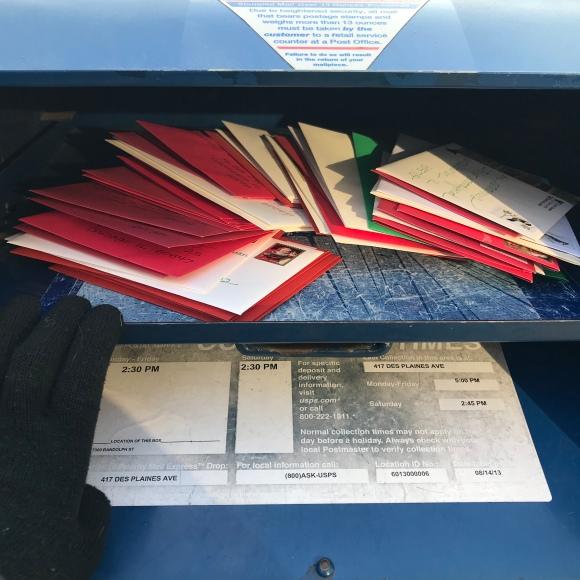 Christmas cards, blue box, feed your mailbox, #feedyourmailbox, holiday greetings