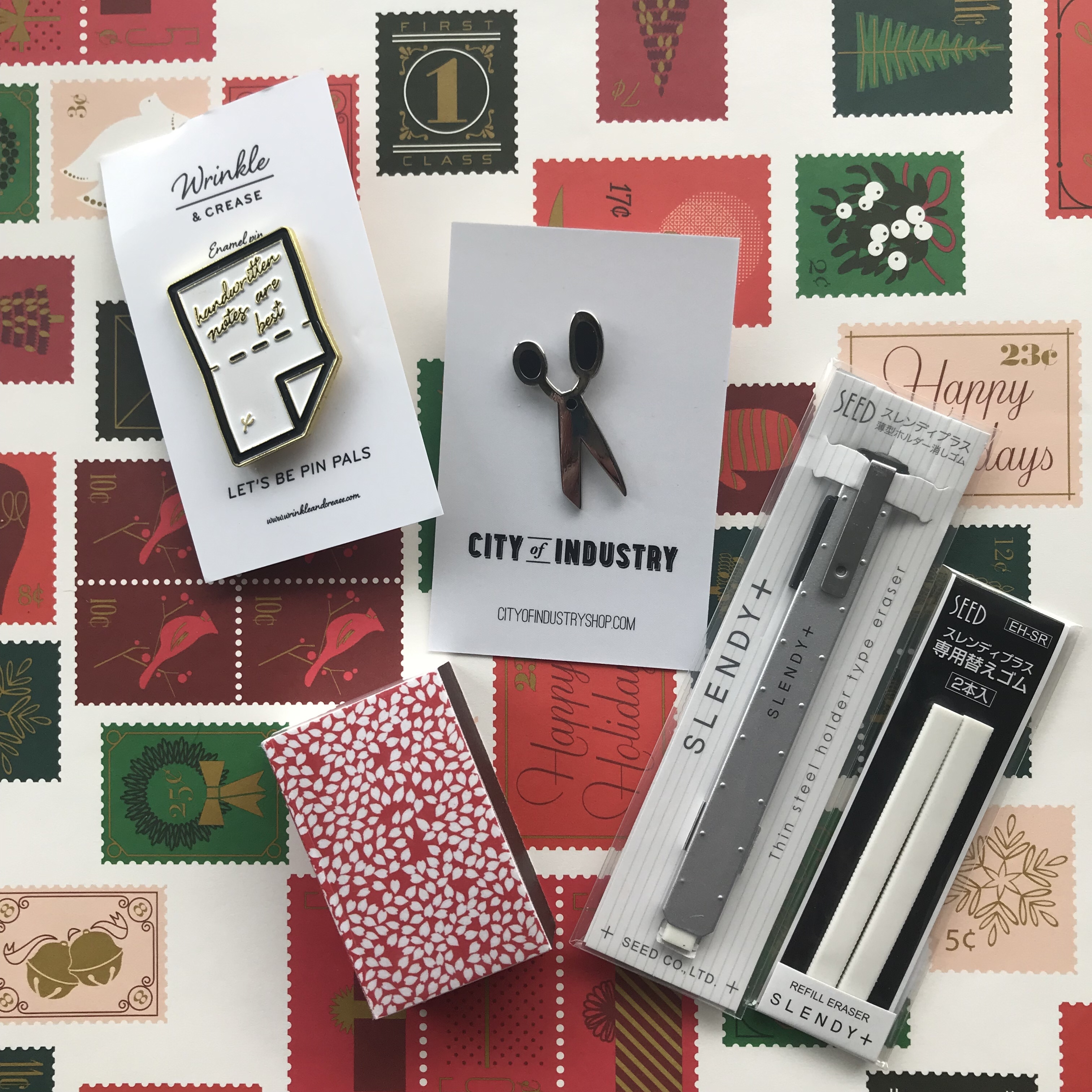 snail mail christmas gifts, greer, office supply gifts