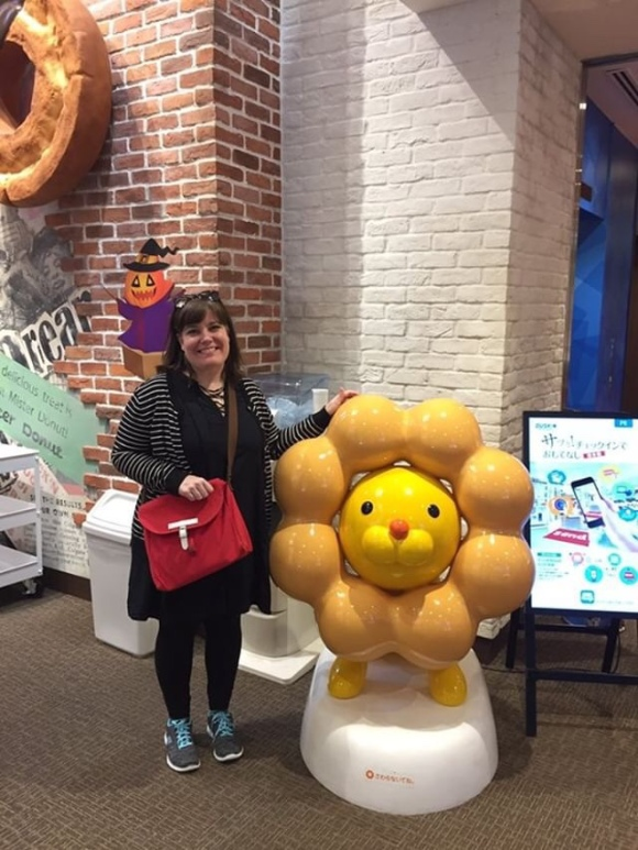 Kimberly AH at Mister Donut Museum