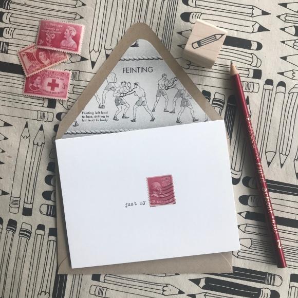 Galaxie Safari, National Pencil Day, pencils, vintage stamps