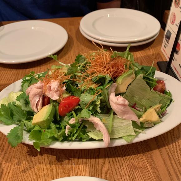 salad with yuzu dressing