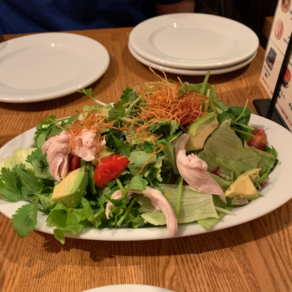 salad with yuzu dressing