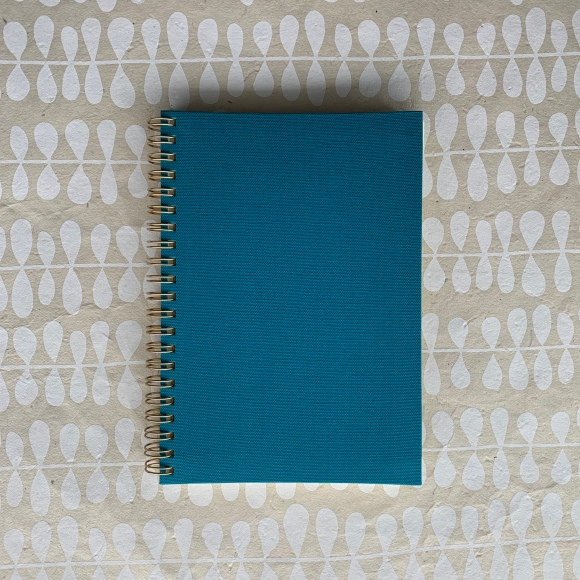 Kakimori notebook, blue book cloth