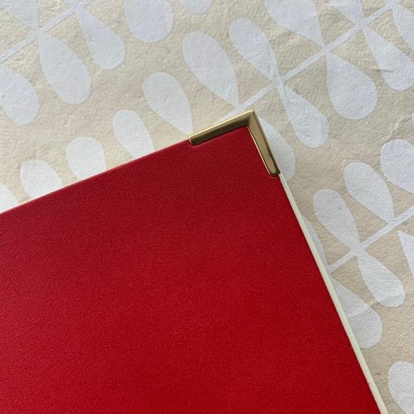 kakimori notebook, gold accents