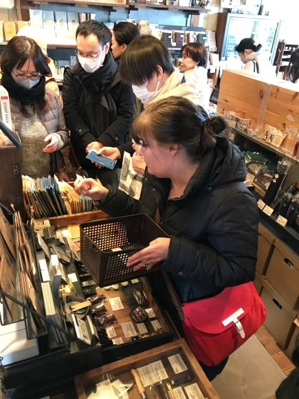shopping at Traveler's Factory