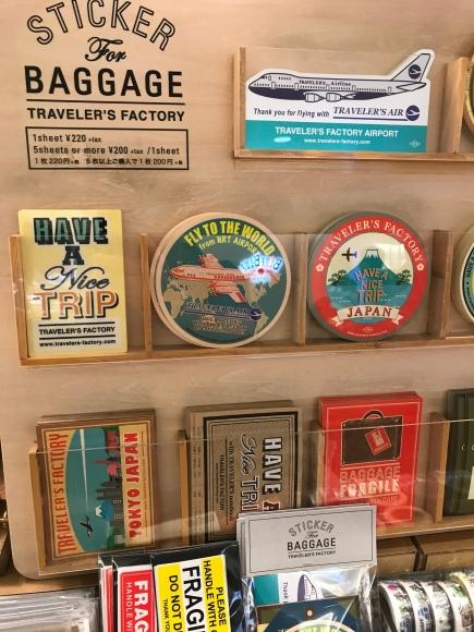 Traveler's Notebook stickers, Traveler's Factory Airport, narita airport